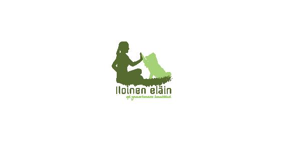 Iloinen eläin, logo