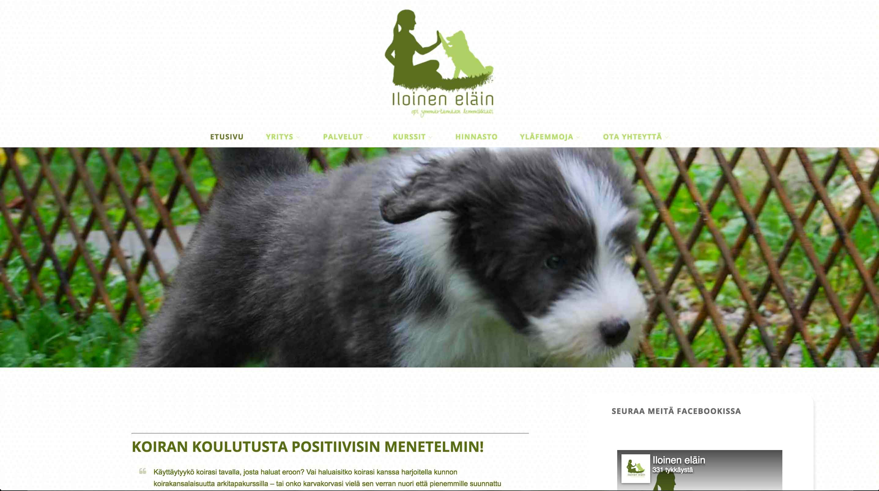 Iloinen eläin, www-sivut