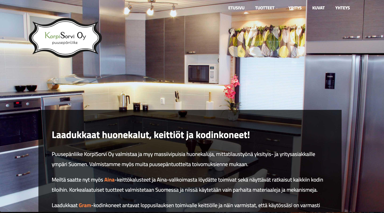 Puusepänliike KorpiSorvi, www-sivut