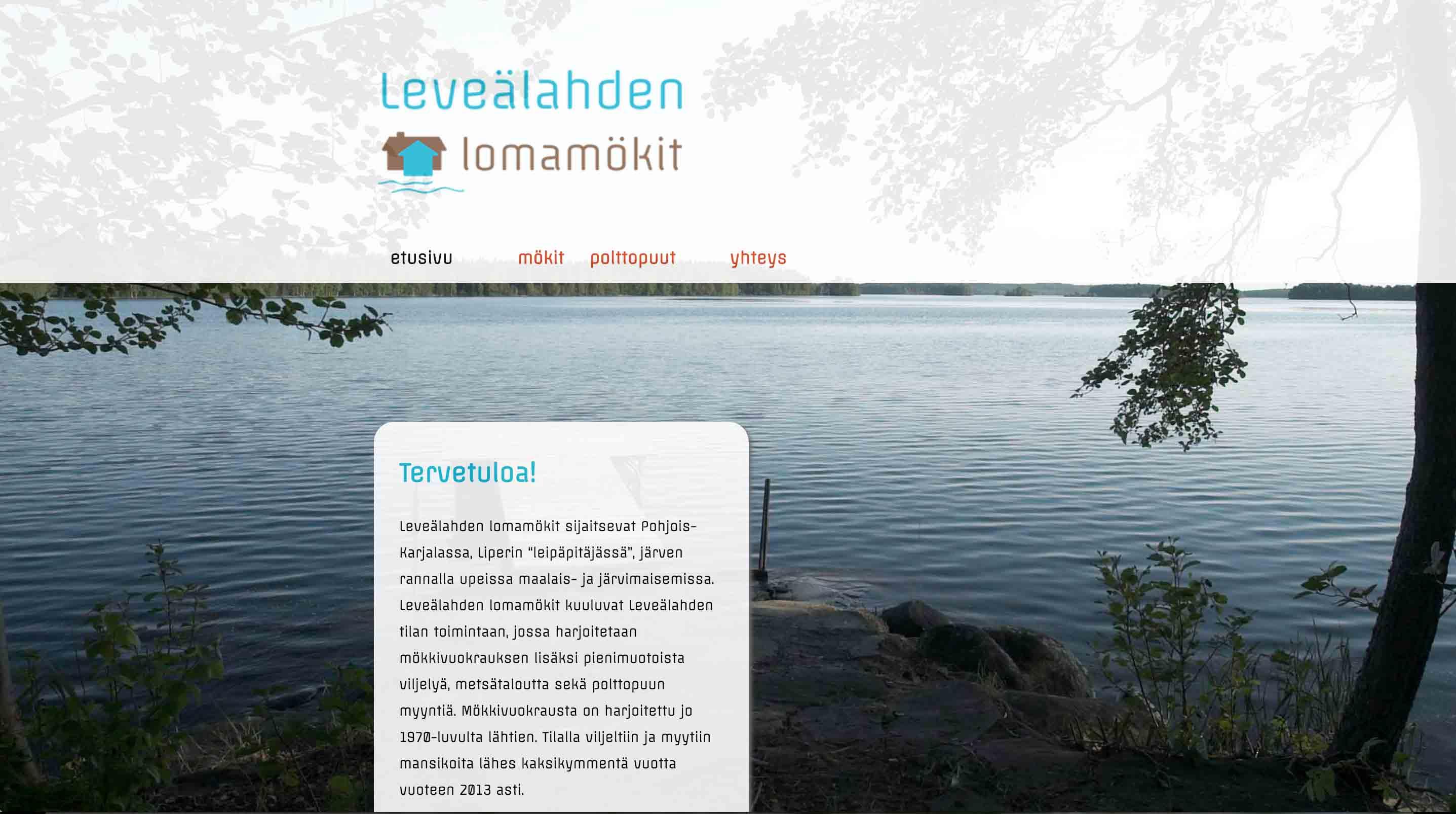 Leveälahden lomamökit, www-sivut