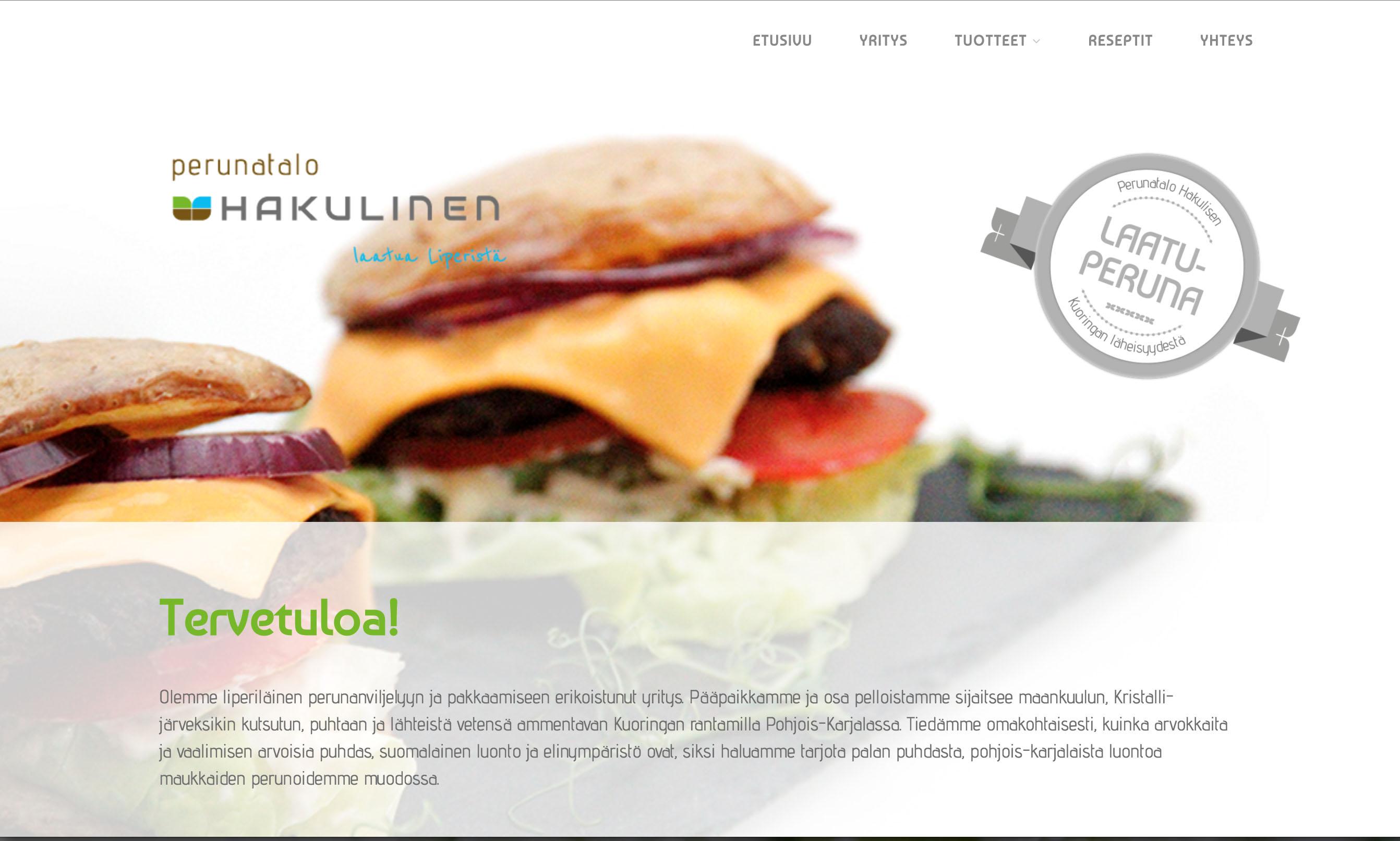 Perunatalo Hakulinen, www-sivut