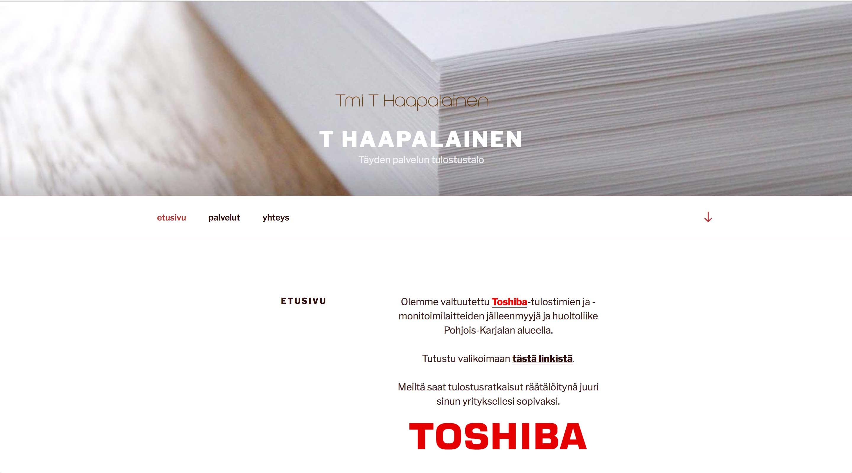 T Haapalainen, www-sivut