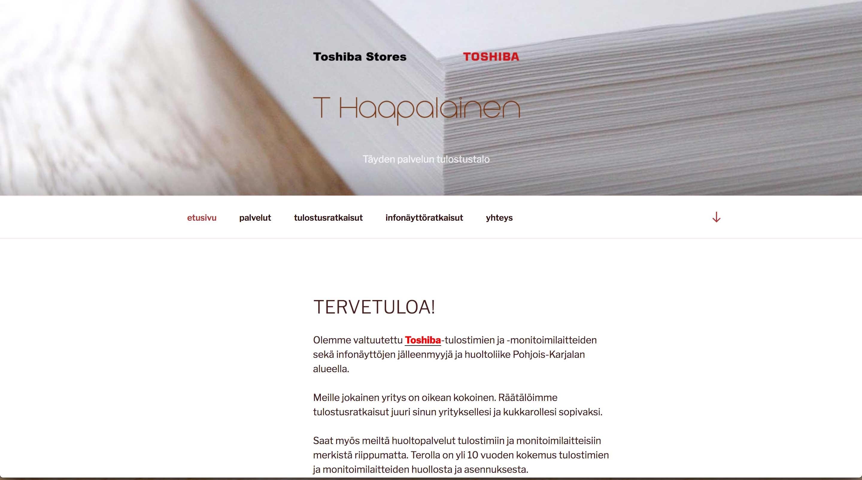 Toshiba Stores T Haapalainen, www-sivut